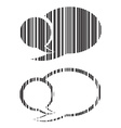 set of blank speech bubbles barcode vector image