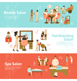 People In Beauty And Spa Salon Horizontal Banners vector image vector image