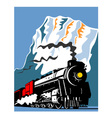 Vintage Steam Train Locomotive Retro vector image
