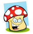 Smiling Mushroom vector image vector image