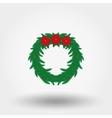 Christmas wreath Flat vector image