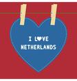 I lOVE NETHERLANDS5 vector image