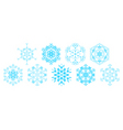 set of decorative snowflakes vector vector image vector image