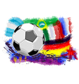 ball and flags vector image