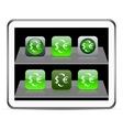 Money exchange green app icons vector image vector image