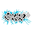 Graffiti art urban design element vector image