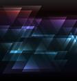 Dark rainbow abstract triangle overlap background vector image