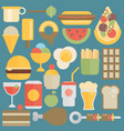 flat food set vector image