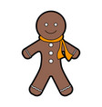 gingerbread man cookie christmas related icon vector image