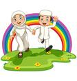 Muslim couple vector image