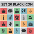 plant vegetable black icons in set collection for vector image