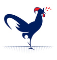rooster redneck icon vector image