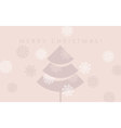 elegant pale rosy color christmas background xmas vector image vector image