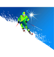 Skier vector image vector image
