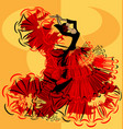 abstract yellow image of flamenco vector image vector image