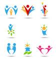 human icons and symbols vector image vector image