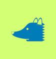 in flat icon design fox vector image