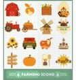 farm icons vector image vector image