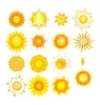 suns collection vector image vector image