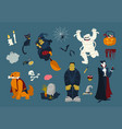 big collection of funny and spooky halloween vector image