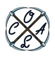Color vintage coal mining emblem vector image
