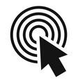 cursor click round icon simple black style vector image