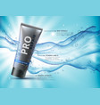 facewash advertising concept design with water vector image