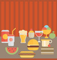 food on the table vector image