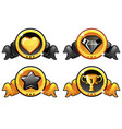 gold and black icon design for game ui vector image