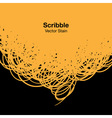 Scribble yellow background for your design vector image