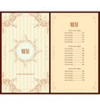 menu for the restaurant vector image vector image