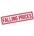 Falling Prices rubber stamp vector image