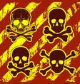 set of skulls with crossbones vector image vector image