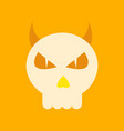 flat icon on background halloween emotion skull vector image