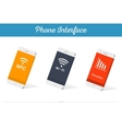 Interface 3D Smartphone Models with Media vector image