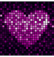 heart shiny mosaic vector image vector image