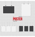 Isolated Poster Mockup Set Realistic EPS10 vector image