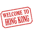 Hong Kong - welcome red vintage isolated label vector image