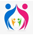 abstract people icons vector image
