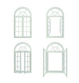 Arched Windows Realistic Set vector image