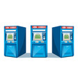 atm machine isolated vector image