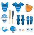 baseball protect equipment vector image