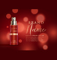 beautiful red cosmetic product display template vector image