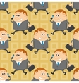 Businessman seamless pattern vector image