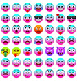 face emotionspink and blue emotions 2018 vector image