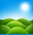 fantastic landscape vector image