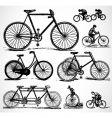 retro bikes vector image