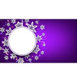 Purple Christmas background with snowflakes vector image