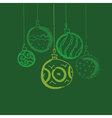 CHristmas bauble background Seasonal winter vector image