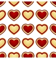 seamless background of hearts vector image